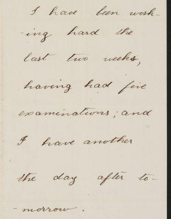 Detail, Letter from Theodore Roosevelt to Anne Roosevelt Cowles. 24 Nov 1878. MS Am 1834 (151). Houghton Library. Harvard University.
